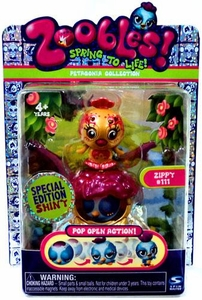 Zoobles Toy Petagonia Animal Special Edition Fuzzy Mini Figure #111 Zippy BLOWOUT SALE!