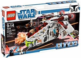 LEGO Star Wars Exclusive Set #7676 Clone Wars Republic Attack Gunship