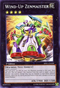 YuGiOh Battle Pack: Epic Dawn Single Card Rare BP01-EN028 Wind-Up Zenmaister