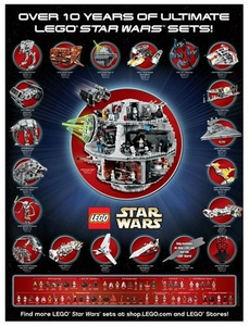 LEGO Star Wars Exclusive Limited Edition Ultimate Star Wars Poster Only 23,500 Made!