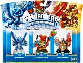 Skylanders Figure 3-Pack Whirlwind, Double Trouble & Drill Sergeant BLOWOUT SALE!