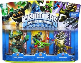 Skylanders Figure 3-Pack Prism Break, Boomer & Voodood