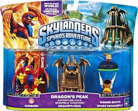 Skylanders Adventure Pack Dragon's Peak [Sunburn, Dragon Peak, Winged Boots & Sparx Dragonfly]