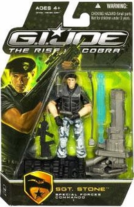 GI Joe Movie The Rise of Cobra 3 3/4 Inch Action Figure Sgt. Stone [Special Forces Commando]