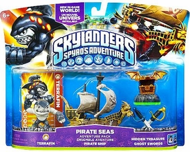 Skylanders Adventure Pack Pirate Seas [Terrafin, Pirate Ship, Hidden Treasure & Ghost Swords] BLOWOUT SALE!