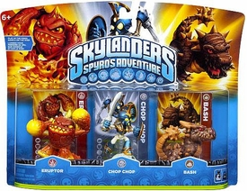 Skylanders Figure 3-Pack Eruptor, Chop Chop & Bash BLOWOUT SALE!