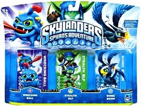 Skylanders Figure 3-Pack Wrecking Ball, Stealth Elf & Sonic Boom BLOWOUT SALE!