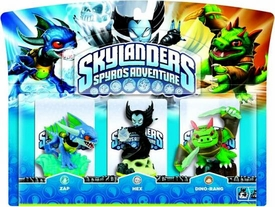 Skylanders Figure 3-Pack Zap, Hex & Dino-Rang BLOWOUT SALE!