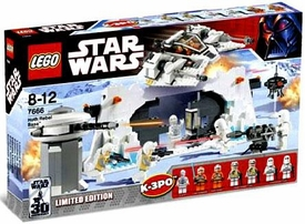 LEGO Star Wars Exclusive Set #7666 Hoth Rebel Base Damaged Packaging, Mint Contents!