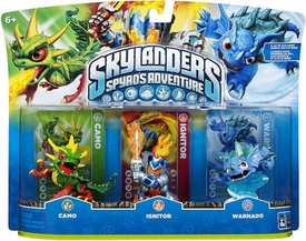 Skylanders Figure 3-Pack Camo, Ignitor & Warnado BLOWOUT SALE!