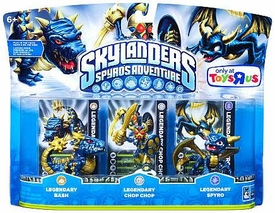 Skylanders Exclusive LEGENDARIES Figure 3-Pack LEGENDARY Bash, Chop Chop & Spyro