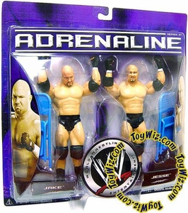WWE Jakks Pacific Wrestling Adrenaline Series 21 Action Figure 2-Pack Jake & Jesse [The Gymini]