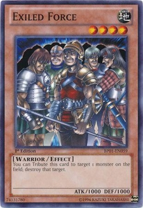 YuGiOh Battle Pack: Epic Dawn Single Card Common BP01-EN059 Exiled Force