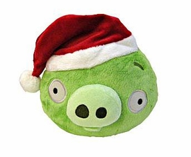 Angry Birds CHRISTMAS 5 Inch Mini Plush Figure Green Pig