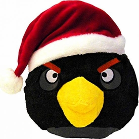 Angry Birds CHRISTMAS 8 Inch DELUXE Plush Figure Black Bird