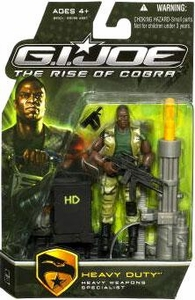 GI Joe Movie The Rise of Cobra 3 3/4 Inch Action Figure Heavy Duty [Heavy Weapons Specialist]