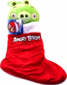 Angry Birds Christmas Stocking Green Pig