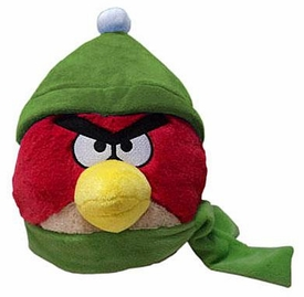 Angry Birds WINTER 6 Inch MINI Plush Figure Red [Green Hat & Scarf]