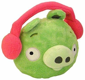 Angry Birds WINTER 6 Inch MINI Plush Figure Pig [Red Earmuffs]