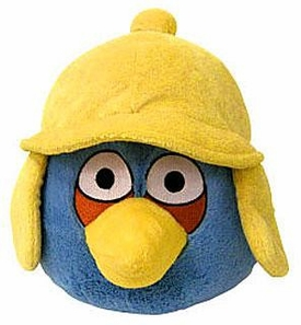 Angry Birds WINTER 6 Inch MINI Plush Figure Blue [Yellow Hat]
