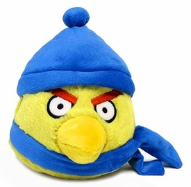 Angry Birds WINTER 6 Inch MINI Plush Figure Yellow [Dark Blue Hat & Scarf]