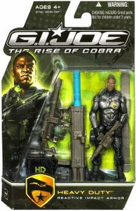 GI Joe Movie The Rise of Cobra 3 3/4 Inch Action Figure Heavy Duty [Reactive Impact Armor]