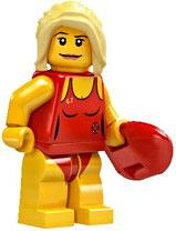 LEGO Minifigure Collection Series 2 LOOSE Mini Figure Bay Watch Life Guard