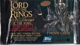 Lord of the Rings Topps The Fellowship of the Ring Update Edition Trading Cards Pack