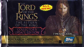 Lord of the Rings Topps The Return of the King Update Edition Trading Cards Pack