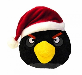 Angry Birds CHRISTMAS 5 Inch Mini Plush Figure Black Bird