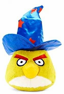 Angry Birds HALLOWEEN 5 Inch MINI Plush Figure Yellow Bird with Wizard Hat