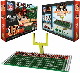 OYO Football NFL Generation 1 Team Field Endzone Set Cincinnati Bengals
