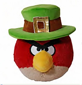 Angry Birds St. Patrick's Day 5 Inch MINI Plush Red Bird
