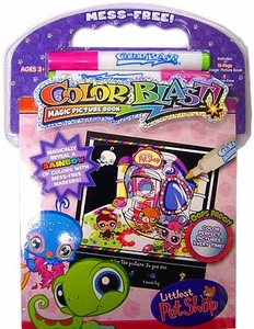Littlest Pet Shop Activity Set Color Blast Magic Picture Book