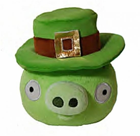 Angry Birds St. Patrick's Day 5 Inch MINI Plush Green Pig