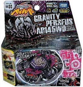 Beyblades JAPANESE Metal Fusion Battle Top Starter #BB80 Gravity Perseus AD145WD [Includes String Launcher!]