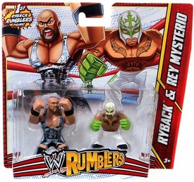 WWE Wrestling Rumblers Mini Figure 2-Pack Ryback & Rey Mysterio