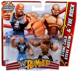 WWE Wrestling Rumblers Mini Figure 2-Pack Stone Cold Steve Austin & The Rock