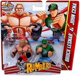 WWE Wrestling Rumblers Mini Figure 2-Pack Brock Lesnar & John Cena