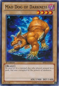 YuGiOh Battle Pack: Epic Dawn Single Card Common BP01-EN113 Mad Dog of Darkness