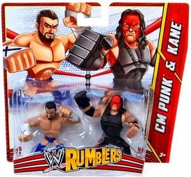 WWE Wrestling Rumblers Mini Figure 2-Pack CM Punk & Kane