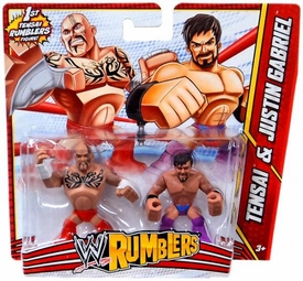 WWE Wrestling Rumblers Mini Figure 2-Pack Tensai & Justin Gabriel