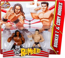 WWE Wrestling Rumblers Mini Figure 2-Pack Booker T & Cody Rhodes