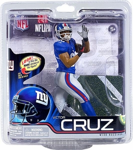 McFarlane Toys NFL Sports Picks Series 31 Action Figure Victor Cruz (New York Giants) Blue Jersey