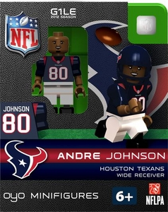 OYO Football NFL Building Brick Minifigure Andre Johnson [Houston Texans]
