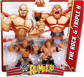 WWE Wrestling Rumblers Mini Figure 2-Pack The Rock & Triple H