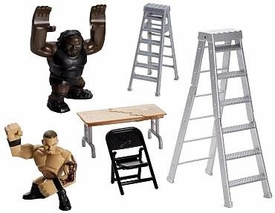 WWE Wrestling Rumblers Rampage Playset Ladder Battle [Mark Henry & Randy Orton Figures]