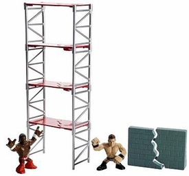 WWE Wrestling Rumblers Rampage Playset Scaffold Smash [Kofi Kingston & The Miz Figures]