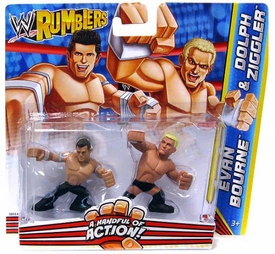 WWE Wrestling Rumblers Mini Figure 2-Pack Evan Bourne & Dolph Ziggler
