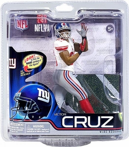 McFarlane Toys NFL Sports Picks Series 31 Action Figure Victor Cruz (New York Giants) White Jersey Chase Variant Only 2,000 Made!